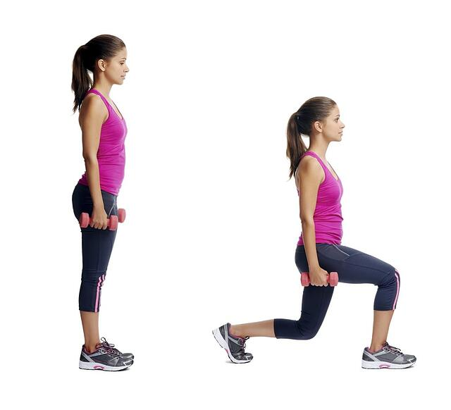 Proper form for doing a lunge