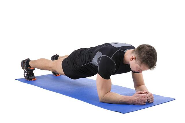 Elbow plank position